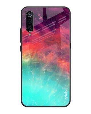 Shop Qrioh Colorful Aura Glass Case for Xiaomi Mi A3-Front