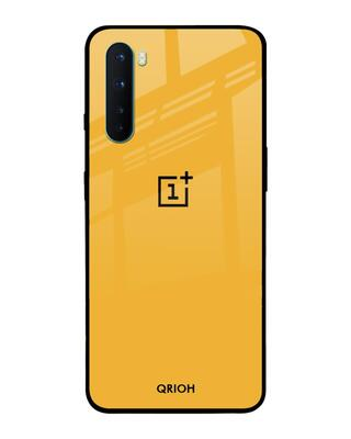 Shop Qrioh Fluorescent Yellow Glass case for OnePlus Nord-Front
