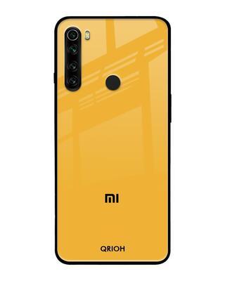 Shop Qrioh Fluorescent Yellow Glass case for Xiaomi Redmi Note 8-Front