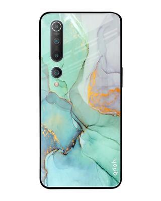 Shop Qrioh Xiaomi Mi 10 Green Marble Glass Case-Front