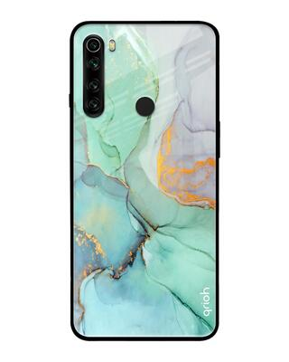 Shop Qrioh Green Marble Glass case for Xiaomi Redmi Note 8-Front