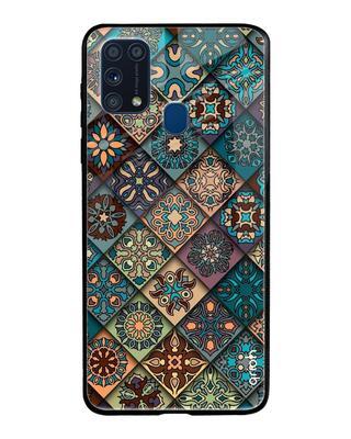 Shop Qrioh Retro Art Glass Case For Samsung Galaxy M31-Front