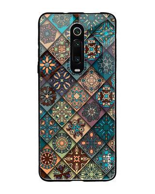 Shop Qrioh Retro Art Glass Case for Xiaomi Redmi K20 Pro-Front