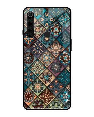 Shop Qrioh Retro Art Glass case for Xiaomi Redmi Note 8-Front