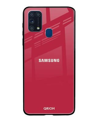 Shop Qrioh Solo Maroon Glass Case For Samsung Galaxy M31-Front