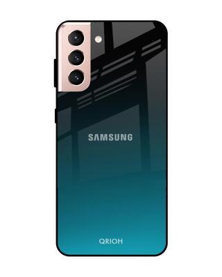 Shop Qrioh Ultramarine Glass Case For Samsung Galaxy S21-Front