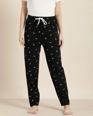 Shop Quarantine Black Graphic Pyjamas-Front