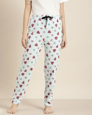 Shop Quarantine Blue Graphic Pyjamas-Front