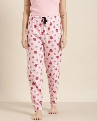 Shop Quarantine Pink Graphic Pyjamas-Front