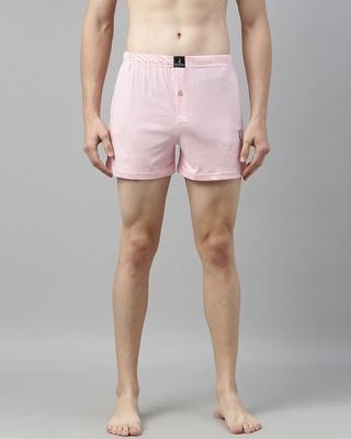 Shop Quarantine Pink Solid Boxer-Front