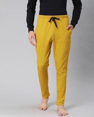 Shop Quarantine Yellow Solid Trackpant-Front
