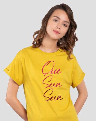 Shop Que Sera Sera Boyfriend T-Shirt-Front