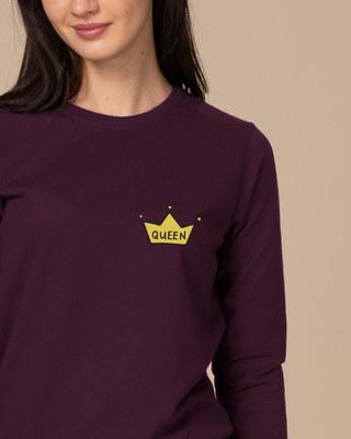 Shop Queen Pocket Print Sweatshirt-Front