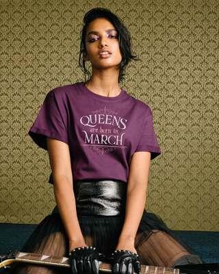 Shop Queens Are Born Boyfriend T-Shirt-Front