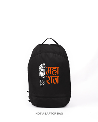 Shop Raaje Chatrapati Printed Small Backpack-Front