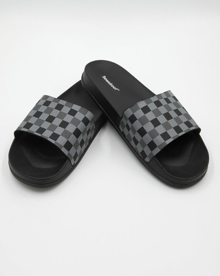 Shop Racing Checks Sliders-Front