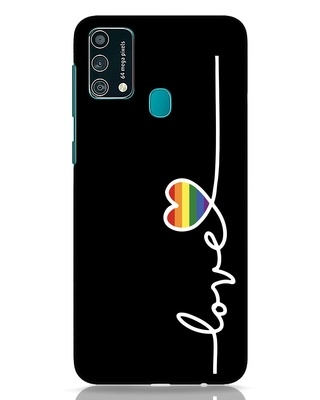 Shop Rainbow Love Samsung Galaxy F41 Mobile Cover-Front