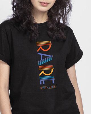Shop Rare AF Boyfriend T-Shirts Black-Front