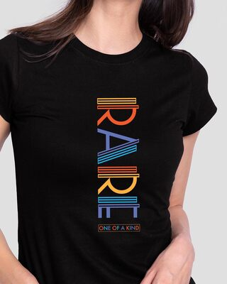 Shop Rare AF Half Sleeve Printed T-Shirt Black-Front