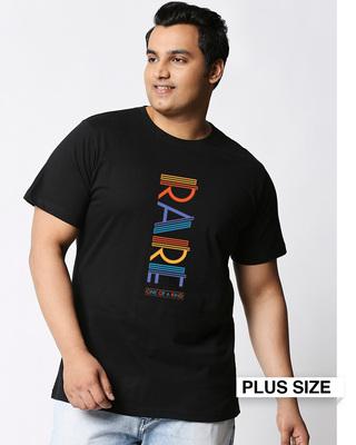Shop Rare AF Half Sleeves Plus Size Printed T-Shirt-Front