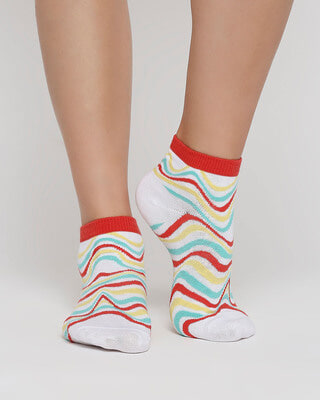 Shop Rasta Waves Ankle Length Socks-Front