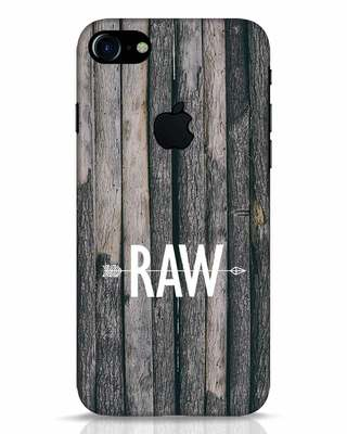 Shop Raw iPhone 7 Logo Cut Mobile Cover-Front
