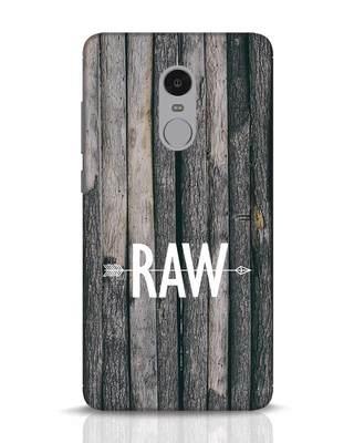 Shop Raw Xiaomi Redmi Note 4 Mobile Cover-Front