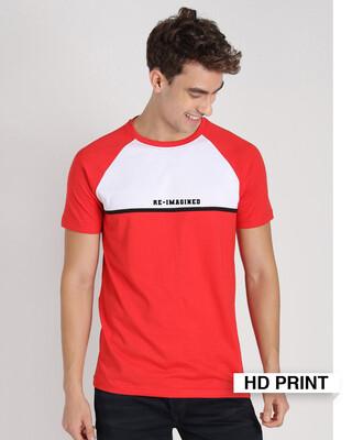 Shop Re Imagined Color Block T-Shirt-Front