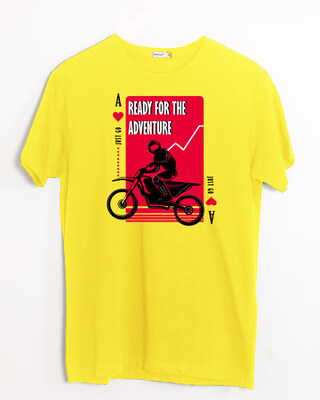 Shop Ready For The Adventure Half Sleeve T-Shirt Pineapple Yellow-Front