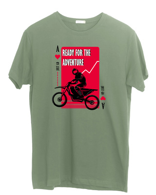 Shop Ready For The Adventure Half Sleeve T-Shirt Moss Green-Front
