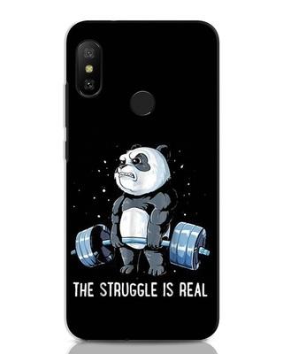 Shop Real Struggle Xiaomi Redmi Note 6 Pro Mobile Cover-Front