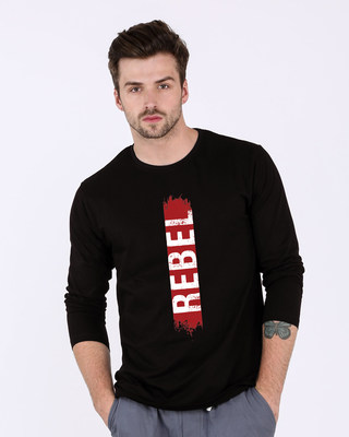 Shop Rebel Side Full Sleeve T-Shirt-Front