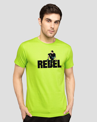 Shop Rebel Sight Half Sleeve T-Shirt-Front