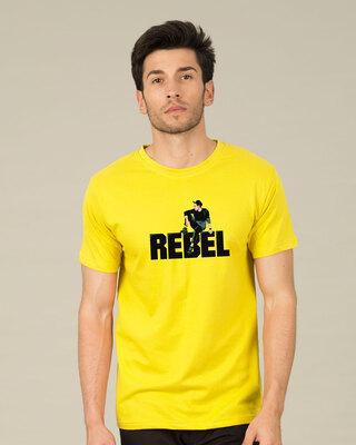 Shop Rebel Sight Half Sleeve T-Shirt-Front