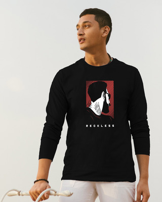 Shop Reckless Hipster  Full Sleeve T-Shirt-Front