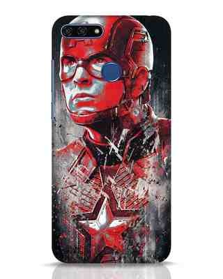 Shop Red Captain America Huawei Honor 7A Mobile Cover-Front
