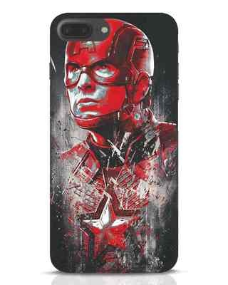 Shop Red Captain America iPhone 7 Plus Mobile Cover-Front