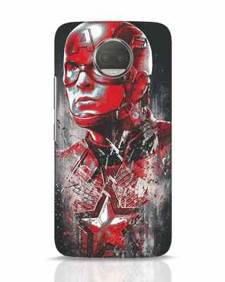 Shop Red Captain America Moto G5s Plus Mobile Cover-Front