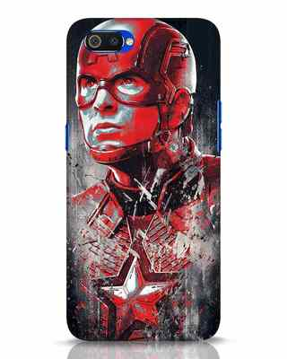 Shop Red Captain America Realme C2 Mobile Cover-Front