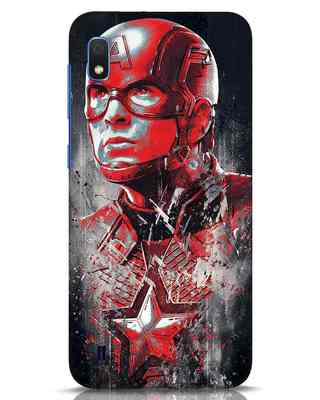 Shop Red Captain America Samsung Galaxy A10 Mobile Cover-Front