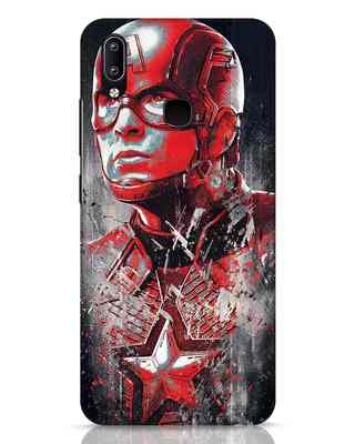 Shop Red Captain America Vivo Y91 Mobile Cover-Front