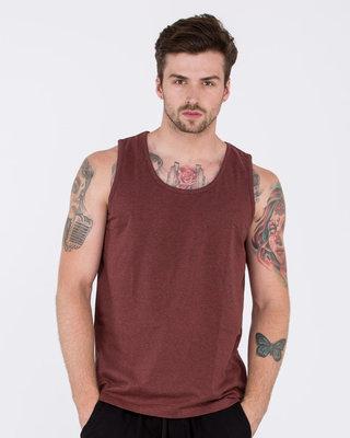 Shop Red Melange Vest-Front