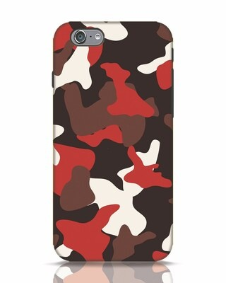 Shop Red Modern Camo iPhone 6s Mobile Cover-Front