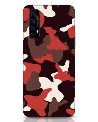 Shop Red Modern Camo Realme Narzo 20 Pro Mobile Cover-Front