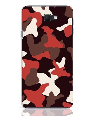 Shop Red Modern Camo Samsung Galaxy J7 Prime Mobile Cover-Front
