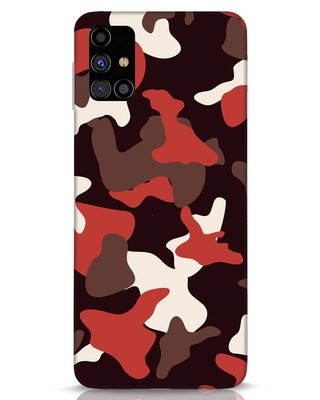 Shop Red Modern Camo Samsung Galaxy M31s Mobile Cover-Front