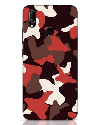Shop Red Modern Camo Vivo Y91 Mobile Cover-Front