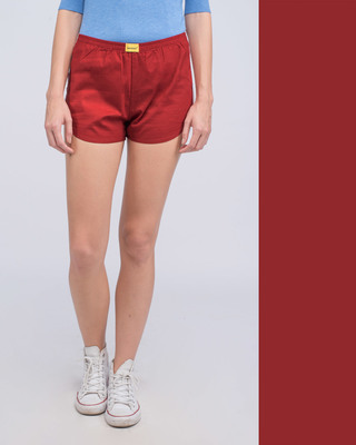 Shop Red Passion Plain Boxer-Front