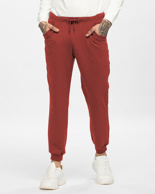 Shop Red Pear Men's Casual Joggers-Front