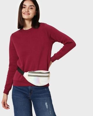 Shop Red Plum Fleece Sweatshirt-Front